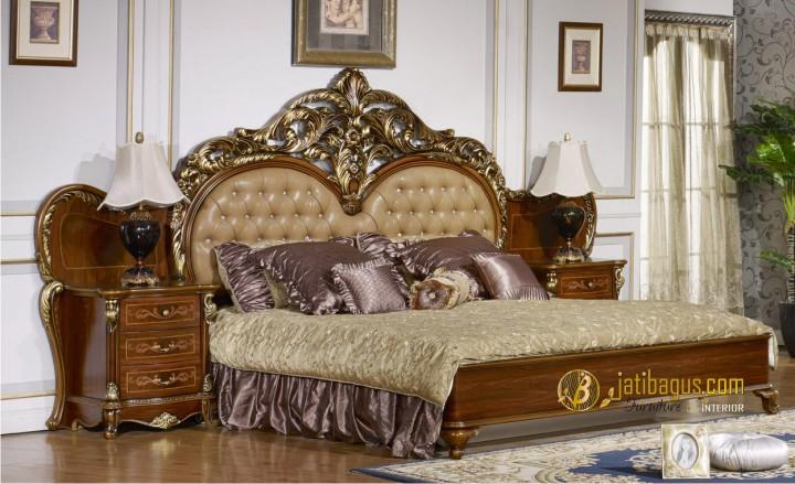 Tempat Tidur Ukir Mewah Classic Brown