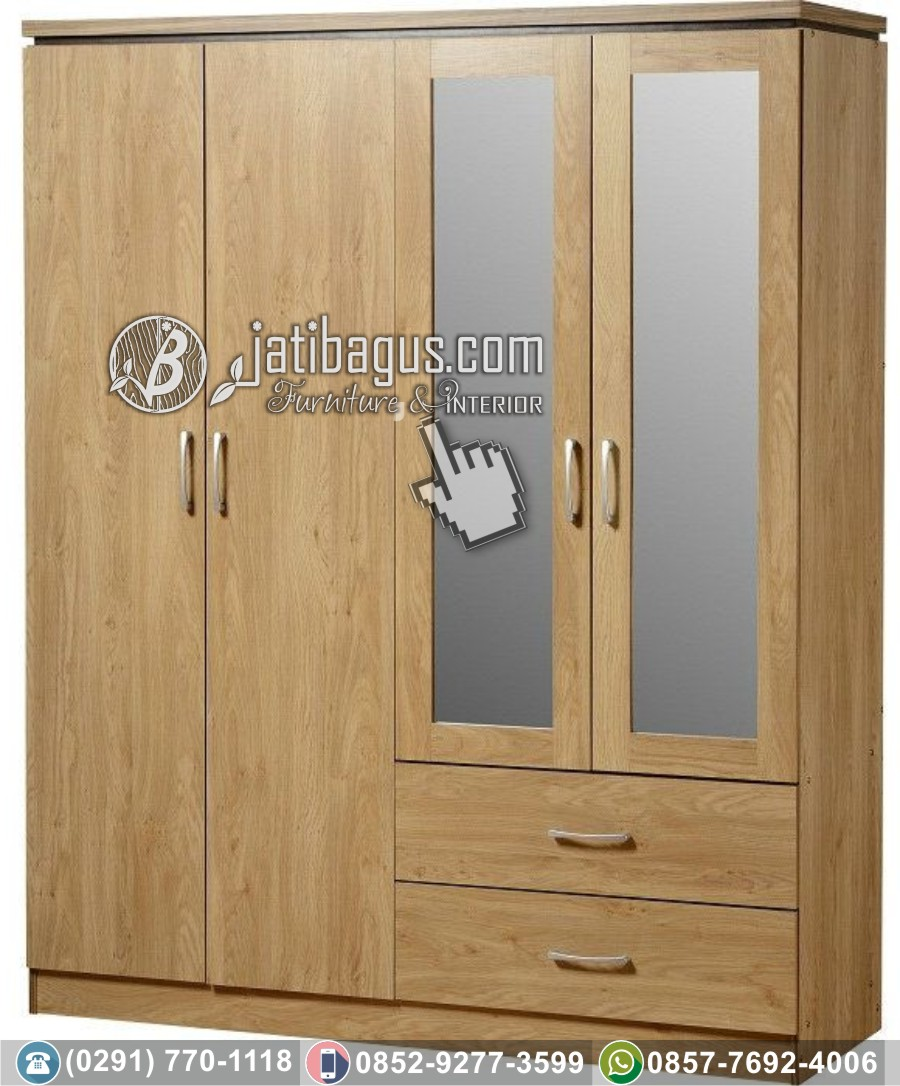 lemari minimalis jati 4 pintu