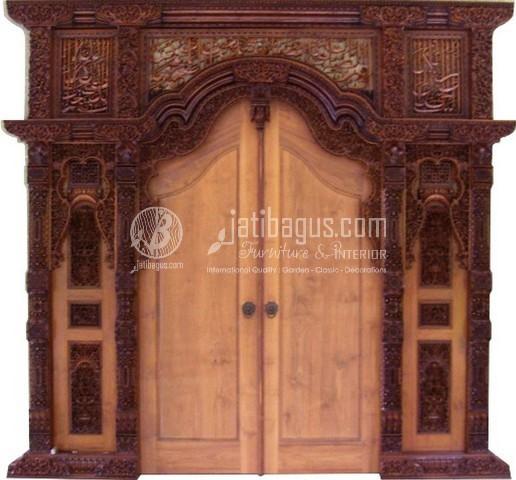 Gambar Pintu Gebyok Jepara Jati ukiran kaligrafi