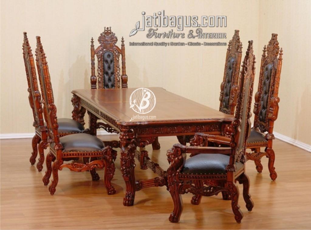 Set Meja Makan Raja Mewah