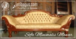 Sofa Minimalis Mawar | Sofa Santai Minimalis Mawar Jati