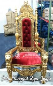 Toko Mebel Jual Kursi Sofa Tunggal Model Raja Singa Emas