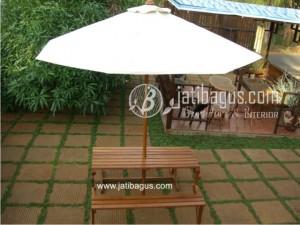 Payung Meja Bangku Magic Lipat Taman