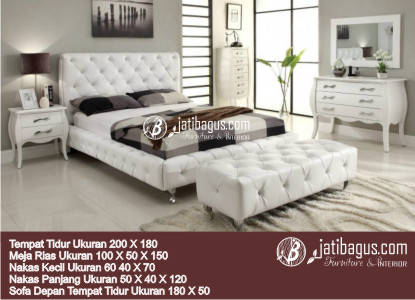 Gambar Set Kamar Tidur Modern Jok Putih