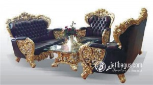 Set Kursi Sofa Mewah Bellagio Gold