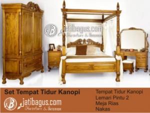 Set Tempat Tidur Kanopi
