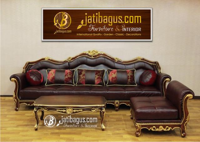 Kursi Tamu Sofa Ukir Mewah Model L Luxury