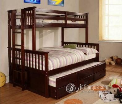 Tempat Tidur Anak Tingkat Sorong 3in1