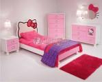 Set Kamar Tidur Anak Perempuan Model Hello Kitty