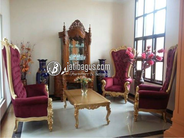 Set Kursi Tamu Mewah Sofa Ratu