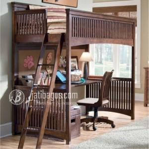 Model Tempat Tidur Anak Dan Meja Belajar MINIMALIS