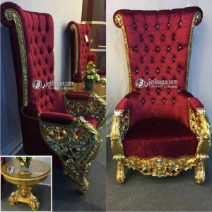 Kursi Sofa Bellagio Mewah Red Velvet JATIBAGUS Furniture