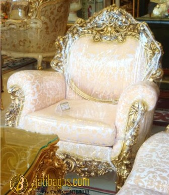 Kursi Sofa Italian Classic Ukir Emas MODEL