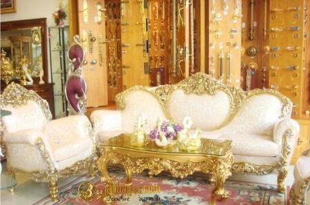 Kursi Sofa Italian Classic Ukir Emas