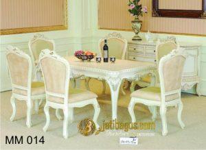 Meja Makan Duco Putih Elegan MM 014