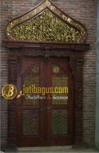 Pintu Ukir Kaligrafi  Gebyok Kubah Kayu Jati | JATIBAGUS.com