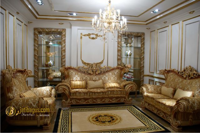 Set Kursi Tamu Sofa Ukir Model Richi Italian Lux Luxury