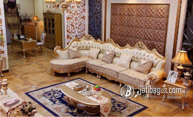 Set sofa sudut luxury luxe trend Oscar mewah