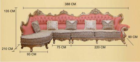 Ukuran Set sofa sudut luxury luxe trend
