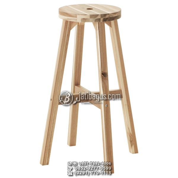 Kursi Bar Kafe Stool Kayu