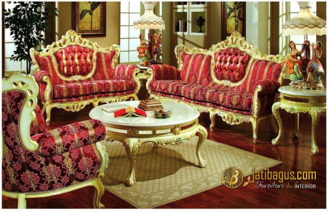 Kursi Tamu Sofa Ukir Model Duco Victorian New