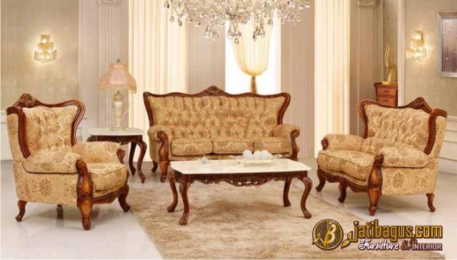 Set Kursi Tamu Sofa Ukir Klasik Terbaru