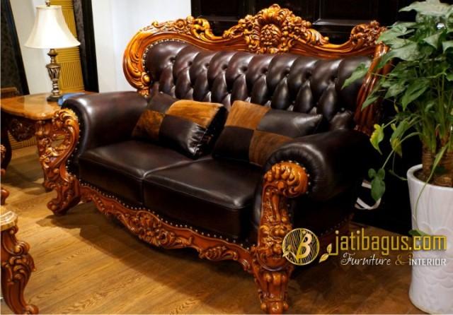 Kursi Tamu Sofa Ukir Mewah Royal Baroque 2 seat