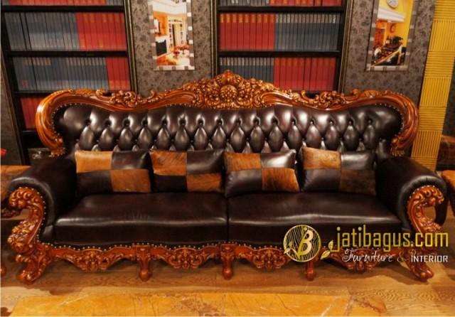 Kursi Tamu Sofa Ukir Mewah Royal Baroque 4 seat