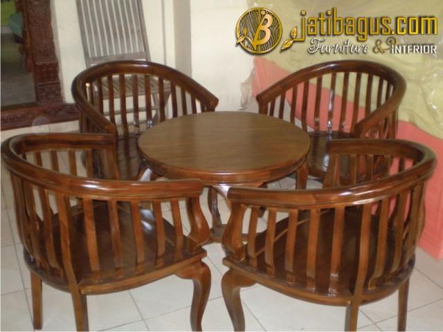 Kursi Teras Betawi Lenong 4 Kursi dan Meja
