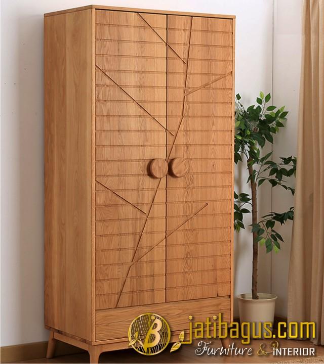 Lemari Pakaian Minimalis Pintu 2 Model Pohon