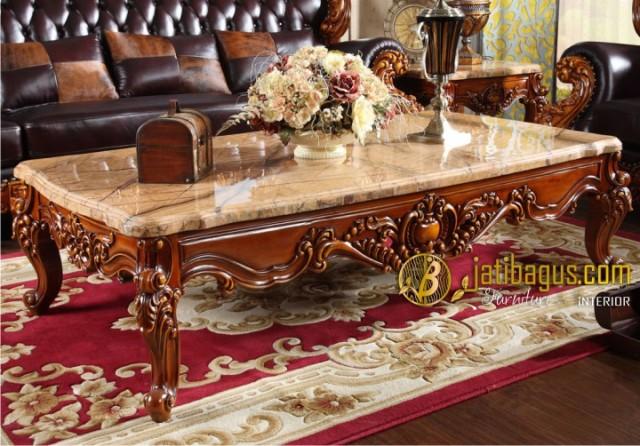 Meja Marmer Kursi Tamu Sofa Ukir Mewah Royal Baroque
