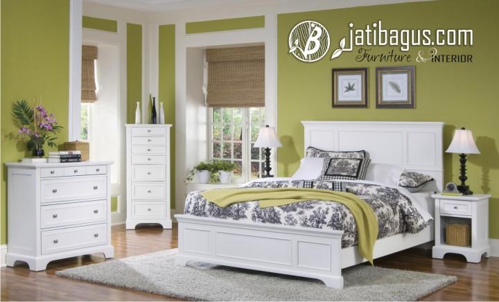 Set Kamar Tidur Duco Putih Minimalis Elegance