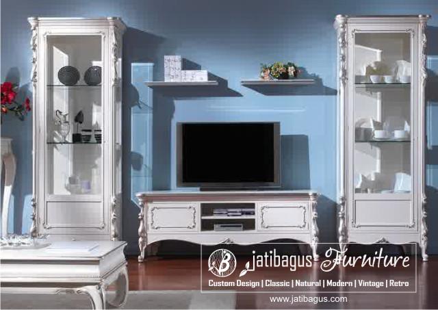 Bufet TV Duco Putih Minimalis Modern