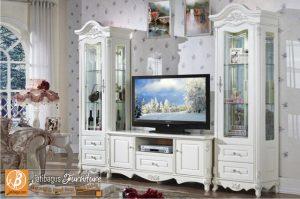 Set Bufet TV Duco Putih Mewah