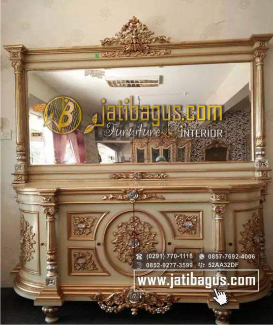 Bufet Cermin Nusantar Duco Emas / Meja Bufet dan Cermin Rias