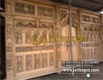 Gebyok Jati 6 Meter Ukiran 3 Dimensi Klasik Antik