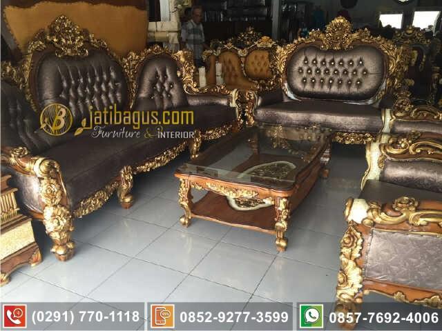 Set Kursi Tamu Sofa Royal Calista Ukiran Mewah Asli Produk Jepara