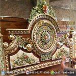 Tempat Tidur GONG Klasik Airbrush No. 1 Ukiran Jepara