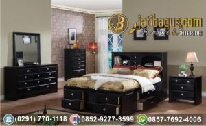Set Tempat Tidur Banyak Laci Model Minimalis