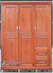 Lemari Pakaian Minimalis Pintu Tiga Model Vietnam