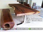 Meja Trembesi Kaki stainless steel Anti Karat