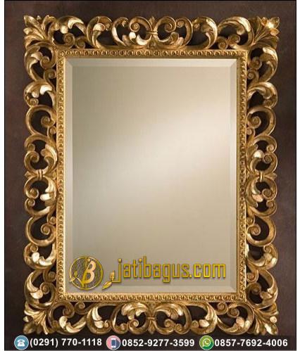Frame Bingkai Cermin Ukir Jepara Mewah Duco Gold