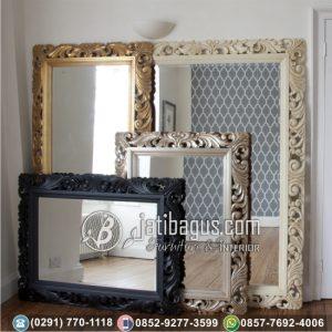 Pigura Frame Cermin Hias Ukir Mewah Jati Jepara