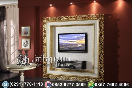 Frame TV Hias Gold Ukir Kerinci