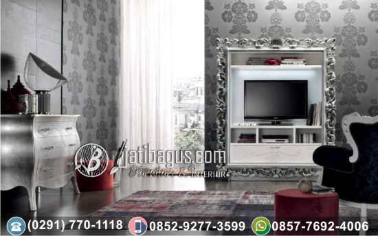 Frame TV Hias Ukir Silver