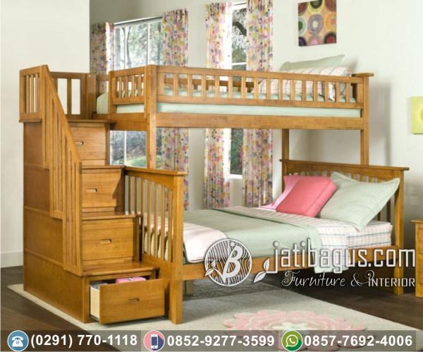 Tempat Tidur Anak Tingkat Minimalis Twin Cassandra