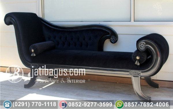 Kursi Long Sofa Tunggal Black Lion