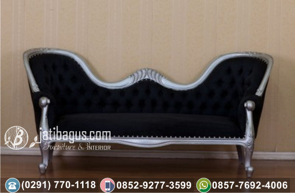 Kursi Long Sofa Tunggal Black Noire
