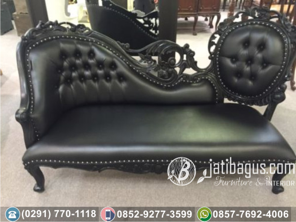 Kursi Long Sofa Tunggal Black Parlor