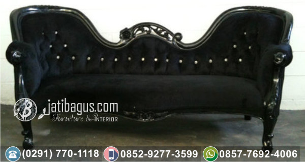 Kursi Long Sofa Tunggal Black Singgalang